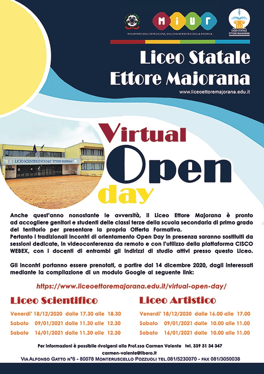 Virtual Open Day Liceo Majorana